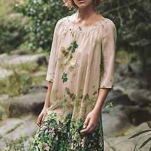Anthropologie Vanessa Virginia 100% silk dress